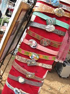 Lisa Loria ...Her Awesome Belts ... Will be at the Vintage Marketplace.. June 1st and 2nd 2012