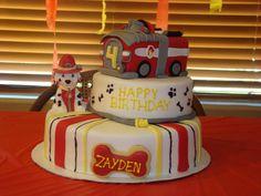 Paw Patrol Marshall birthday cake!