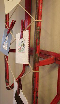 Sled Christmas Card Holder