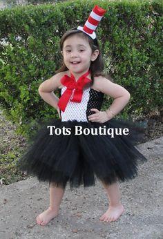 Inspired Cat in the Hat Tutu Dress- Infant. $40.00, via Etsy.