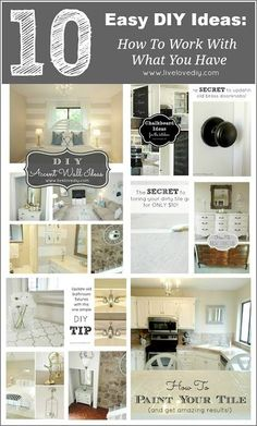 10 DIY Home Improvement Ideas: How To Make The Most of What You Already Have! Awesome info!  #paint #diy #upcycle #refresh