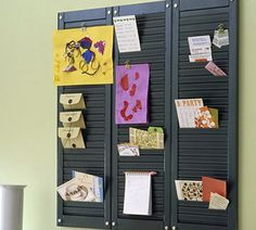 Repurpose/Upcycling.... Like shutters? Here's a little upcycling magic using shutters. decor, mail, idea, craft, amaz 2013, messag board, shutters, messages, shutter messag