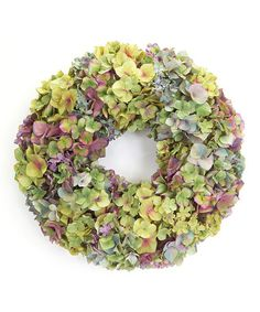 Yellow Mixed Hydrangea Wreath  -  ($162.00)  $65.00  -  Zulily