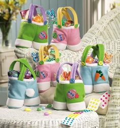 Easter Bunny Treat Bag Set