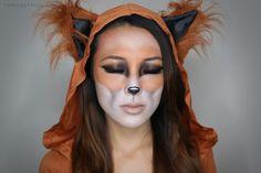 face makeup, animal makeup, makeup tutorials, halloween costumes, halloween makeup, fox makeup, costume makeup, foxes, anim makeup