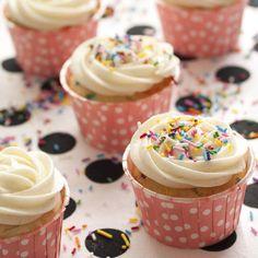 Double Cream Cheese Funfetti Cupcakes