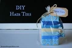 DIY Hair Tie Tutorial with 3 Free Printable Tags and Free Template
