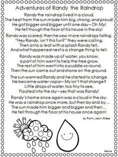 Water Cycle Poem Freebie {Kidsrcute}