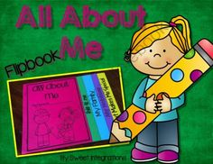 Flipbook: All About Me from Sweet Integrations...With a Taste of Technology on TeachersNotebook.com -  (7 pages)  - Back to School; Beginning of the Year; All About Me; Flipbook $