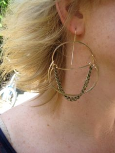 The Naughty and Nice Hoops by 3tomatoes on Etsy, $68.00