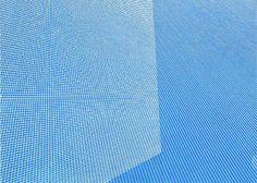 Sara Eichner-'two white grids on blue'-Sears-Peyton Gallery