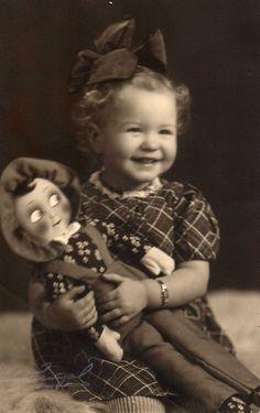 girl with Finnish Martha doll