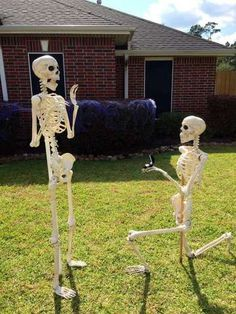 <p>The 'Keeping Up With The Bones' Facebook page tracks goings on of the Bonses, a skeleton family created by Lumberton resident Amy B. Moses. Each day, Moses changes the display to show the family doing different</p>