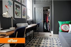Before & After:  An Office/Guest Bedroom Gets a Dramatic Makeover — Go Haus Go