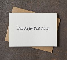 12 Letterpress Thank You Cards