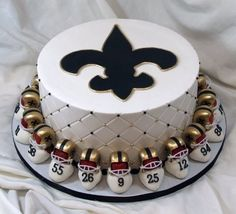 Yes it is a SAINTS cake!!!!!