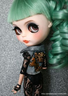 Lady Gaga Inspired Custom Blythe One of a Kind! GORGEOUS but MONEY!!!