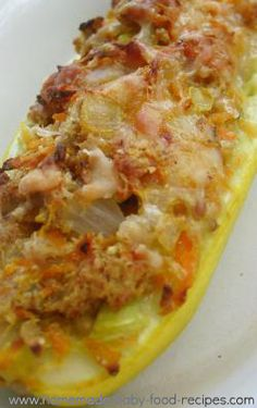 Baby's Stuffed Squash Bites - The Vegetable Dish Your Tiny Diner Will LOVE!