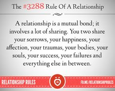 A relationship is a mutual bond..