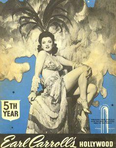 Earl Carroll's Hollywood Souvenir Program, 1940's