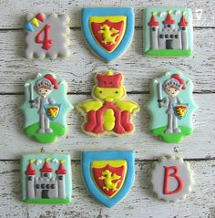 Cookies   Medieval Knight Castle birthday party   Kara's Party Ideas   Dolce Desserts I The Mischief Maker Cake and Dessert Tablescape