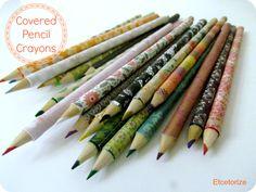 Mod Podge Pencil Crayons