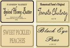 Free Printable Primitive Jar Labels | primitive jar labels free printable free primitive canning jar labels ...
