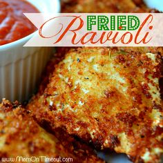 Fried Ravioli Recipe I'm totally going to try this but baked instead of fried