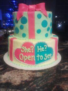 Baby reveal cake :)