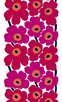 Unikko - the most recognizable icon of the Marimekko Company designed by Maija Isola in 1964. (Isola died in 2001)