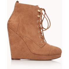 Off Roading Wedge Booties ($18) found on Polyvore