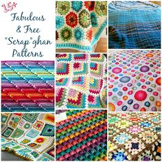15 free patterns for 'scrap'ghans! This is the correct link to the site, not just a pic.