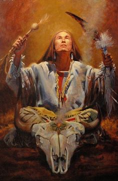 "Oil Painting *Shaman's Prayer""...Phil Beck"