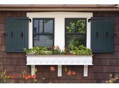 shutters and window box #window