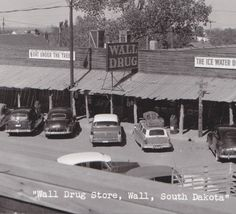 Vintage Wall Drug Stores  #SouthDakota Been there in the 90s