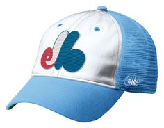 Montreal Expos Nike Light Blue Cooperstown L91 Relaxed Trucker Snapback Adjustable Hat