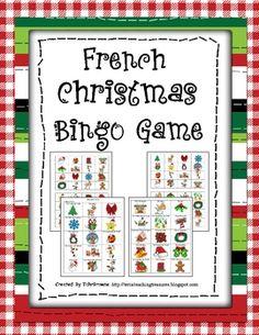 French Christmas Bingo game with 30 Bingo cards! $2