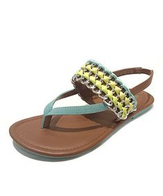 Step out into summer with these chic sandals. Featuring charming embellishments, this pair is perfect for showing off a fresh pedicure and adding a little flair to feet day or night!