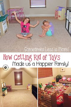 It is possible for kids to have too much of a good thing. Find out how getting rid of most of our toys made us a happier family! {OneCreativ... #prettypintasticpartyfeature