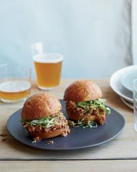 May have to try these.....    Asian Sloppy Joe Sliders Recipe on Food & Wine