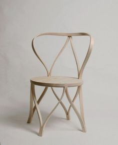 Artistic bentwood chair