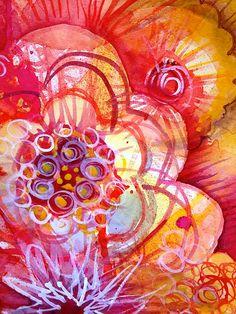 warm colours flower doodle