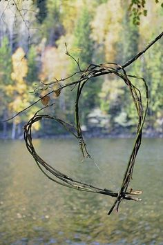 hm, could use for outdoor decor idea, twig heart, inspir, natur, valentin, beauti, garden, photographi, thing