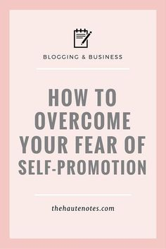 How to overcome your