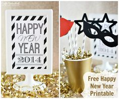 Free New Year's Eve Party Printable - CraftsUnleashed.com