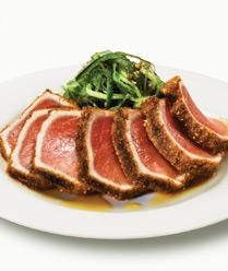Seared Ahi Tuna The perfect way to have a gourmet dinner that is simple to prepare any time of year. - Pinned from muscleandfitnessh...