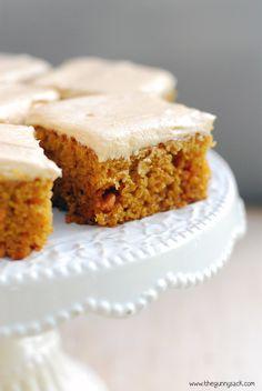 Pumpkin Butterscotch Bars with Butterscotch Cream Cheese Frosting #dessert #pumpkin