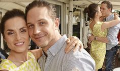 Tom Hardy and fiancée Charlotte Riley engage in another PDA