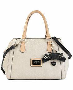 Guess Handbag, Specks Frame Satchel - Handbags Accessories - Macy's