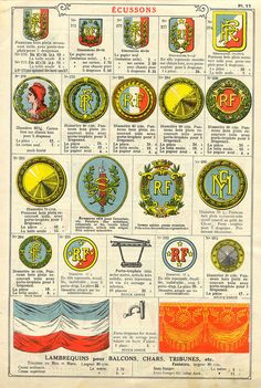 badges in 1934 French catalog